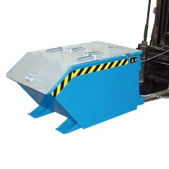 Cable Operated Tipping Skip with Optional galvanised lid