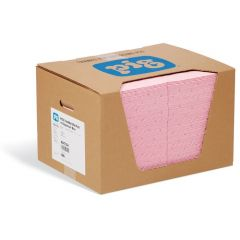 PIG Haz-Mat Mat Pads in Dispenser Box - Absorbs 37.1L per box