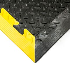 Heavy Duty Checker Plate - Yellow & Black Edges