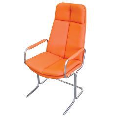 Ele Cantilever Conference Chair - High back with arms - Orange