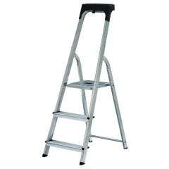 Werner High Handrail Stepladder 3 Steps with Tool Tray