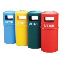 Hooded Outdoor Waste Bins - All Colours