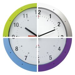 Coloured Analogue Clocks - image for illustrative purposes only