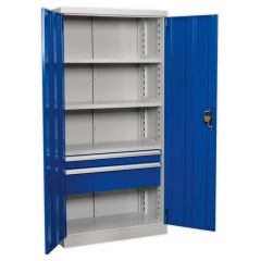 Sealey Industrial Cabinet 2 Drawers & 4 Shelves