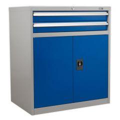 Industrial Cabinet 2 Drawer & Double Door Cupboard