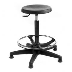 Industrial Stool with Footring