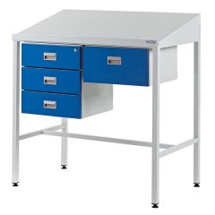 Team Leader Workstation with Sloping Top and 4 Drawers