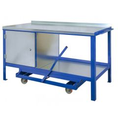 Single Cupboard Mobile Workbenches - Stationary UDL - 1000kg