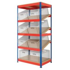 Sloping Shelving - Euro Containers supplied separatley