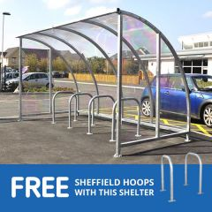 Kenilworth shelter with free hoops
