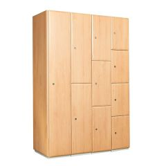 Timber Effect Laminate Lockers - Beech