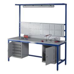 Laminate Workbench with above & below bench accessories