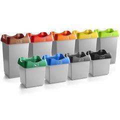 Open Top Recycling Bin - Light grey - 30 / 50 Litre
