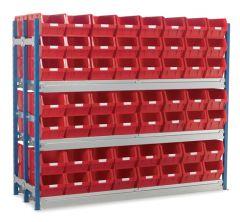 Longspan Bay Shelving Kits with WPTC5 Bins