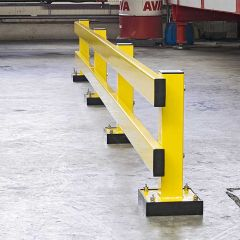 Low Level Impact Guard Rails with Spring Element