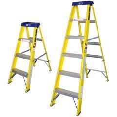EN131 Glassfibre Swing Back Step Ladders