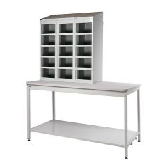 Mailroom Bench with Lockers without Doors