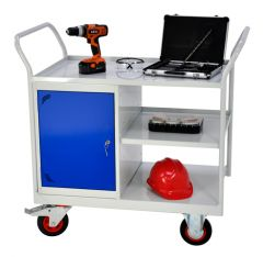 Heavy Duty Maintenance Trolleys with Cupboard and Side Shelf