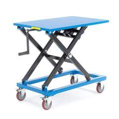 Manual scissor lift trolley 300kg