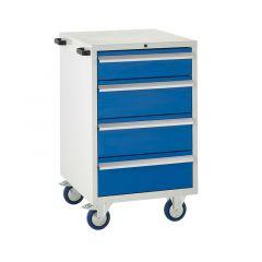 600 Euroslide Mobile Cabinets - 4 Drawers.