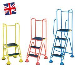 Mobile Warehouse Steps - Domed Feet Anti-Slip- UK Made