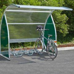 Mottez Curved Modular Cycle Shelter Basic Module