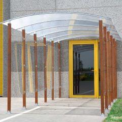 Wood Frame Walkway opening