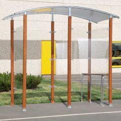 Mottez Wood Frame Smoking Shelter - Free Standing