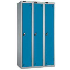 Probe Single Door Nest of 3 Locker - Blue Doors