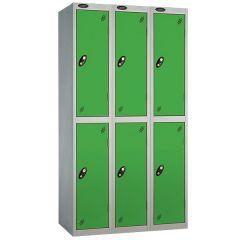 Probe Two Door Nest of 3 Locker - Green Doors