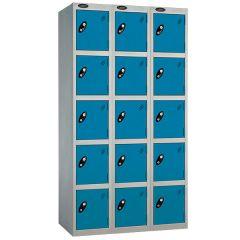 Probe Five Door Nest of 3 Locker - Blue Doors