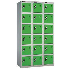 Probe Six Door Nest of 3 Locker - Green Doors