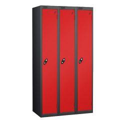 Probe Single Door - Nest of 3 - Black Carcass - Red Door