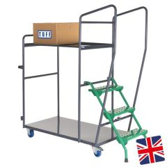UK Manufactured - 2 Shelf Order Picking Trolley