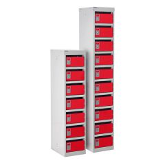 140 Series Mail Box Locker - 7 and 10 Lockers - Red