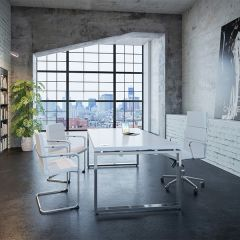Prestige Deluxe Looped Leg Desk