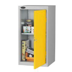 Probe Low Cupboards - Silver Body - Yellow Door