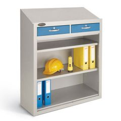 Probe open fronted workstation with 2 drawers (optional)