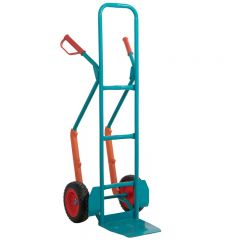 Puncture Proof, High Back Sack Truck with Plastic Skids 300kg