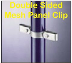 Double Sided Mesh Panel Clip