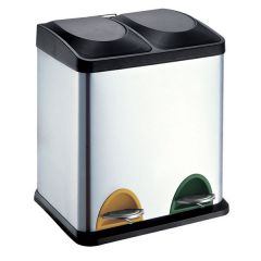 Recycling Pedal Bin - 2 Compartment
