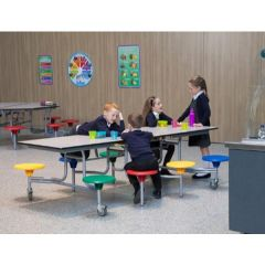 8 Seat Mobile Folding Table Seating Units