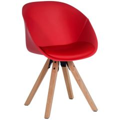 Pyramid padded tub chairs - Red