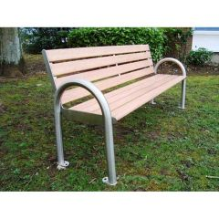 Timber Seat with Stainless Steel Frame