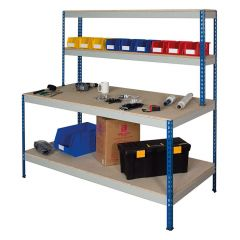Rivet workstation with full under shelf
