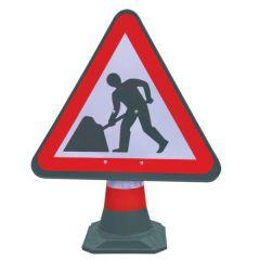 Portacone Sign - Roadworks Sign