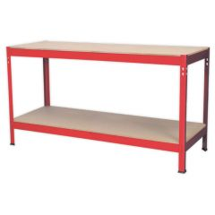 Budget Workbench 1.5 Metre Steel with Wooden Top