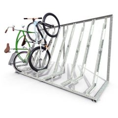 Semi vertical cycle racks