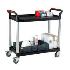 Large Utility Shelf Trolley - 2 Shelves