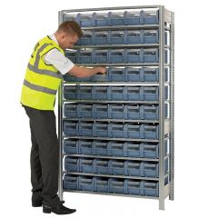 Galvanised Shelving with CTB containers